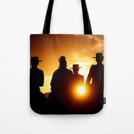 Golden pilgrims Tote Bag