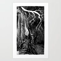 prometheus Art Prints featuring Prometheus by Mr.Willow