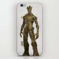 groot iPhone & iPod Skins featuring Groot by Scofield Designs