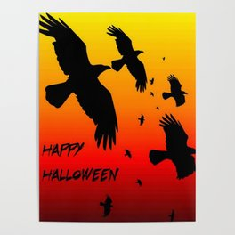 Happy Halloween Murder of Crows  Poster