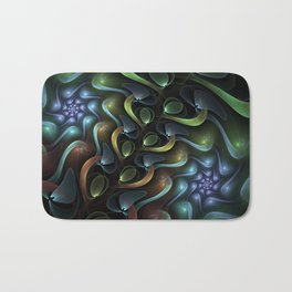Swirling Around, Abstract Fractal Art Bath Mat