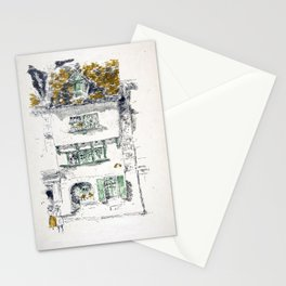 James McNeill Whistler Yellow House, Lannion Stationery Cards