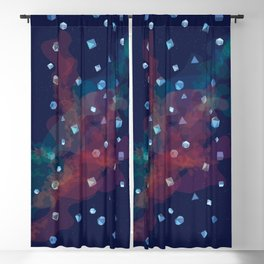 Polyhedral Dice- Nebula Blackout Curtain