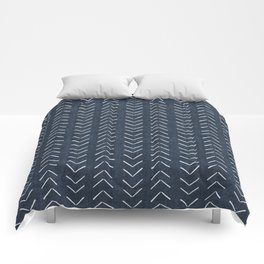 Mud Cloth Big Arrows in Navy Comforters