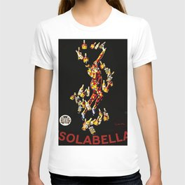 Vintage 1920's Leonetto Cappiello  IsolaBella Lithograph Advertising Wall Art Style 2 with red text T-shirt