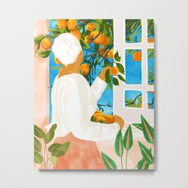 A Few Bad Oranges Is No Reason Not To Bring The Grove Home #painting Metal Print