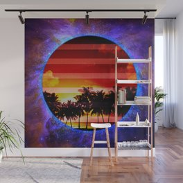 Synthwave Poster v.1 Wall Mural