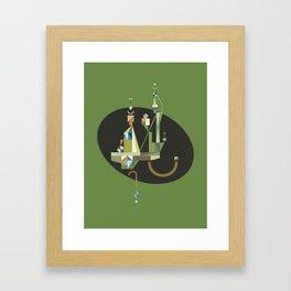 absinthe: green Framed Art Print