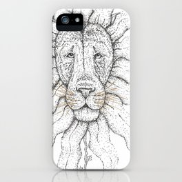 Flower Lion iPhone Case