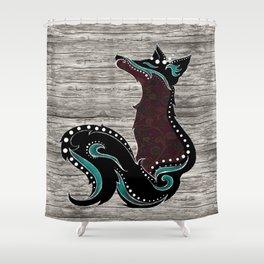 Bohemian Zorro Fox (left) Shower Curtain