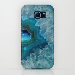 Teal Druzy Agate Quartz iPhone Case