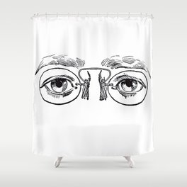 Glasses 3 Shower Curtain
