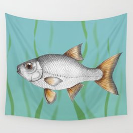 Common roach fish Wall Tapestry
