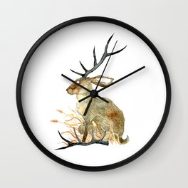 Shed Antler Wall Clock