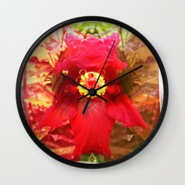 double red Wall Clock