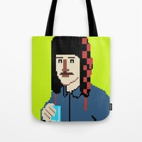 8bit Tote Bags featuring Self-8bit by Judge Bockman