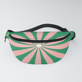 Big Daisy Retro Minimalism in Pink and Bright Green Fanny Pack