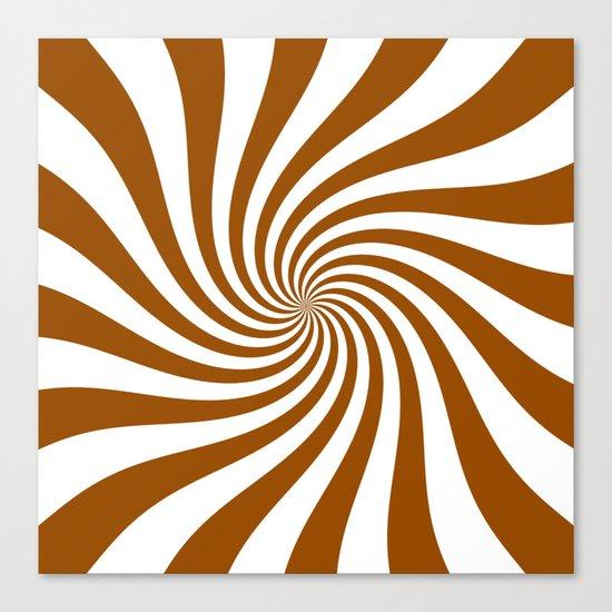 Swirl (Brown/White) Canvas Print