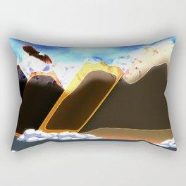 Eagle Soaring (Daylight) Rectangular Pillow