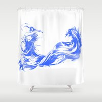 final fantasy Shower Curtains featuring FINAL FANTASY X  by DrakenStuff+