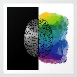 Left Brain, Right Brain Art Print