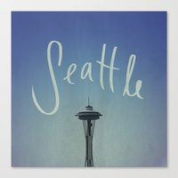 seattle Canvas Prints featuring Seattle by Leah Flores