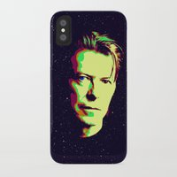 bowie iPhone & iPod Cases featuring Bowie by victorygarlic