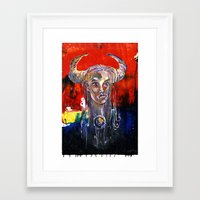 native Framed Art Prints featuring NATIVE by kaiartem