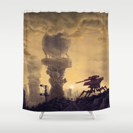 Vacuum Module Megastructures Shower Curtain