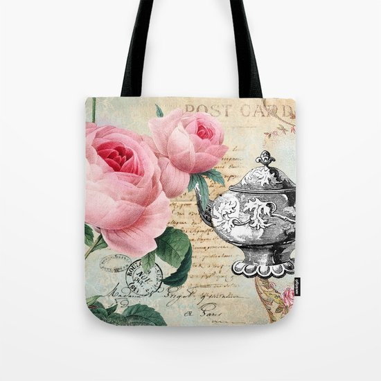 Vintage Flowers #17 Tote Bag