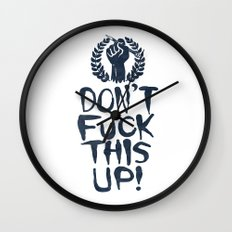 Don't Fuck This Up! Wall Clock