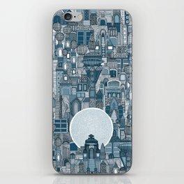 space city mono blue iPhone Skin