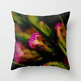 Buds of Purple Throw Pillow