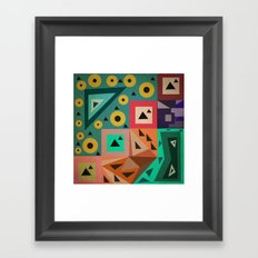 crazy triangles Framed Art Print