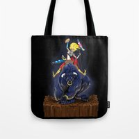bull Tote Bags featuring Bull by (Tak)