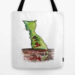 Reflective Zombie Cat Tote Bag