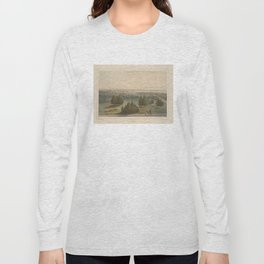 Vintage Pictorial View of Toronto Canada (1851) Long Sleeve T-shirt