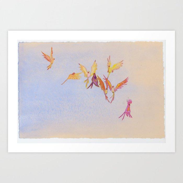 Pandemonium in Peach Kunstdrucke