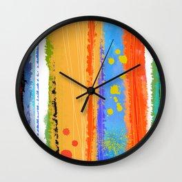 Bold Abstract 1 Wall Clock