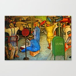 men at work Canvas Print