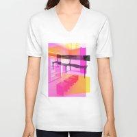 bauhaus V-neck T-shirts featuring Bauhaus by mJdesign
