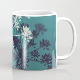 Twilight Stars. Botanical Macro Abstract in Blue. Coffee Mug