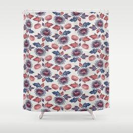 Kiku Flower(菊) Shower Curtain