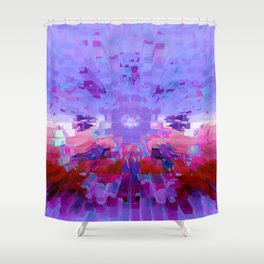 Left Planet Earth Shower Curtain