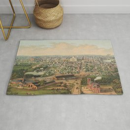 Vintage Pictorial Map of Columbus OH (1867) Rug