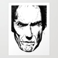clint eastwood Art Prints featuring Clint Eastwood by Zombie Rust