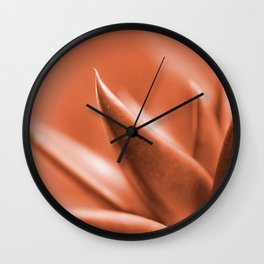 Succulent Leaves Coral Color #decor #society6 #buyart Wall Clock