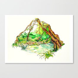 Lagares river Canvas Print