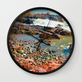 North Shore Waves 2 Wall Clock