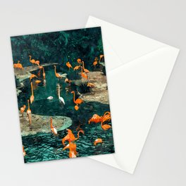 Flamingo Creek #flamingo #tropical #illustration Stationery Cards